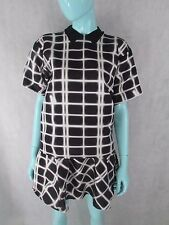 KENZO SIZE 36 UK 8 BLACK PATTERNED TOP & SKIRT DRESS 2 PIECE OUTFIT AUTHENTIC