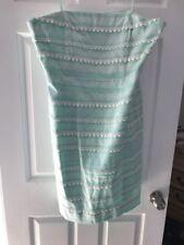 Vineyard Vines NWOT Kentucky Derby Collection Strapless Dress Mint Green 16