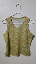 MOUNTAIN HARDWEAR womens paisley tank top M wicking athletic top outdoor casual