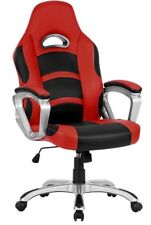 High-back Computer Gaming Chair, PU Leather Ergonomic Office Chair Padded Rest
