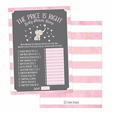 25 Pink Elephant Guess If The Price Is Right Baby Shower Game Ideas For Boys...