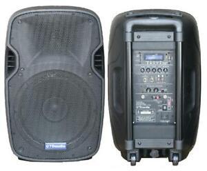 "GTD Audio 300 Watt 2-way  Powered 15"" speaker Bluetooth USB"