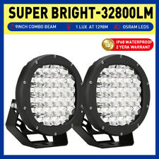 NEW 8 inch CREE LED Driving Lights Spot Flood Work OffRoad 4WD Round Black Truck