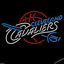 New CLEVELAND CAVALIERS BASKETBALL Beer Bar Real Glass Neon Light Sign FAST SHIP