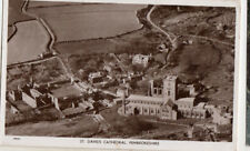 OLD POSTCARD- WALES - St David's Cathedral - Pembrokeshire - Aero Pictorial