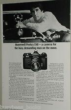 1974 Honeywell Pentax ESII camera ad Mercedes Benz hood