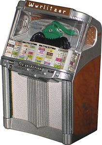 JUKEBOX MINIATURE REPLICA WURLITZER 2000 CENTENNIAL (1956) PLAYS RENATO CAROSONE