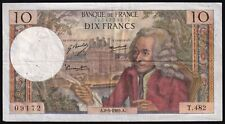 More details for 1969   france 10 francs 'voltaire' banknote   banknotes   km coins