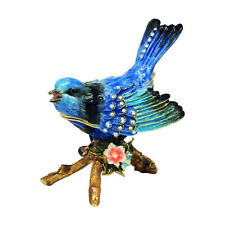 Splendid Fairy Wren Jewelled Bird Trinket Box or Figurine