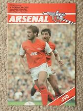 ARSENAL v NORWICH CITY - FOOTBALL PROGRAMME - DIVISION 1, 1983-84
