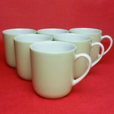 6x Arzberg Sommerwiese Seladon Becher mit Henkel Kaffee-Becher 280 ml Porzellan