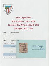 Iribar Athletico Bilbao 1962-1980 ORIGINALE FIRMATO TAGLIO / CARD PLUS 5 x altri