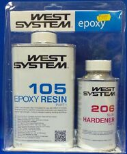 West System A Pack 105 / 206 Slow Epoxy Resin & Free Gloves Boat Repair New BS47