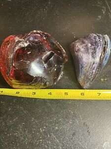 Rare Christensen Agate Marble Glass Brick Slag Dug  2.14lbs … WOW !!