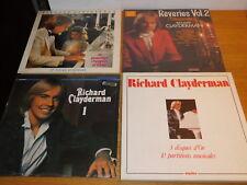 LOT 6 LP RICHARD CLAYDERMAN disques d'or REVERIES 2 & le premier chagrin d'ELSA