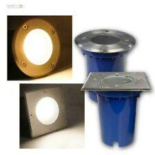 LED Recessed/Ground Light Stainless Steel 3/5/7W, Ground Spotlight 230V IP67