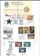 GHANA- Popular W.African Nation-26 Colorful covers-most 1950s-60s FDC