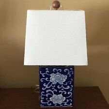 Ralph Lauren Lamp Blue Mandarin Flower Porcelain Lotus Light Signed