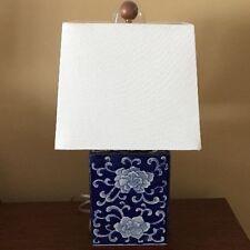 Ralph Lauren Lamp Blue Mandarin Flower Porcelain Lotus Light Signed