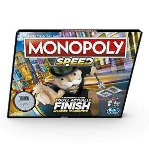 Hasbro Gaming Monopoly: Speed 2+ Player Property Trading Family Board Game New
