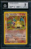 BGS 9 CHARIZARD 1999 Pokemon Base Unlimited #4/102 Holo Rare Non-Shadowless MINT