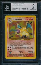 BGS 9 CHARIZARD 1999 Pokemon Base Unlimited #4/102 Holo Rare Non-Shadowless MINT