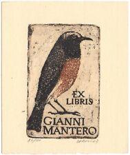 JIRI CORVIN: Exlibris für Gianni Mantero, 1963