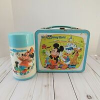 Vintage Walt Disney World Lunchbox and Thermos Mickey Aladdin *READ*