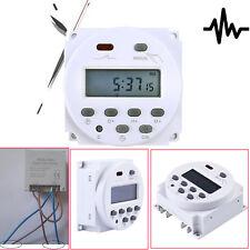 Digitale LCD Zeitschaltuhr DC/AC 12V 16A Timer Programmierbar Schalter Zeit Gut