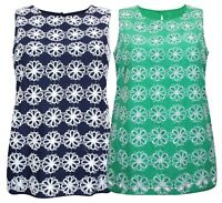 Boden Sz 8-22 Cotton Lined Floral Eyelet Broderie Anglaise Shirt Vest Top Tunic