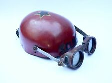 New ListingVintage Soap Box Derby Helmet, Custom Made with Articulated Goggles, 1950s