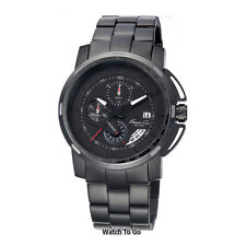 NEW KENNETH COLE WATCH for Men * Black Multi-Function * Tachymeter/Date * KC9331