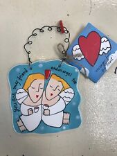 Sandra Magsamen Silvestri Friend Messages From the Heart Ceramic Gift Plaque