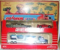 Majorette MIAMI set Ferrari, Lincoln+Truck w/motorboat  Mint-boxed! OFFERTA!