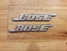 2x BOSE Speaker Sticker Emblem Brushed Aluminium 3D Badge Logo uk Car Home