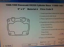 Kawasaki KX250  cylinder base Gasket  1988 1989 1990