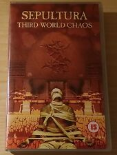 SEPULTURA - THIRD WORLD CHAOS - VIDEOCASSETTA VHS VIDEOTAPE COME NUOVO (MINT)