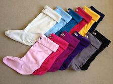 Hunter Boot Adult Fleece Welly Warmer Wellington Socks All Sizes / Colours UK 6-8 L Charcoal