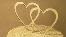 Intertwined Hearts Mirrored Acrylic Wedding Cake Topper MADE IN THE USA