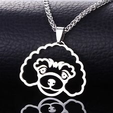 Standard Miniature Toy Poodle Caniche Pudelhund Pet Dog Collar Tag Charm Pendant