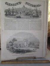 Vintage Print,MAD HOUSE,Blackwells Island,New York,1853