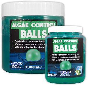 TAP ALGAE CONTROL BALLS 500ml 1L CLEAR POND SAFE & EFFECTIVE TREATMENT KOI FISH
