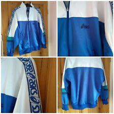 Vintage 90s Asics shellsuit jacket. Block colours, wavy sportswear. UK L