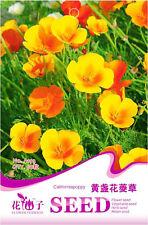Original Package 50 California Poppy Seeds Eschscholzia California Poppy A193