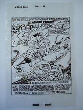 LG '79 DC COMICS PRESENT # 5 AQUAMAN SPLASH Pg. 1 MURPHY ANDERSON PRODUCTION ART