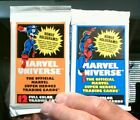 2+1990+Marvel+Universe+Series+1+Sealed+Trading+Card+Packs+Impel++%21+HOT+%F0%9F%94%A5