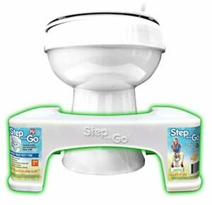 Step and go Toilet Stool 7 in New Proper Toilet Posture for Better and Healthier