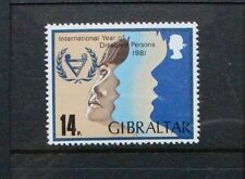 GIBRALTAR 1981 Int Year of Disabled Persons. Set of 1. Mint Never Hinged. SG459.