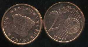 SLOVENIE   2 cents  2007  SPL  neuve  ( sortie du rouleau )
