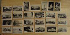 """1939 Washington DC buildings Souvenir Set of 25 Real ~2.5""""x1.6"""" Photos no box"""